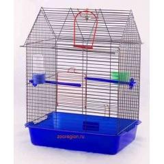 КПТ ВАКА Фантазия-1 Клетка для птиц с жердочкой, поилкой и качелями 385х275х515 см